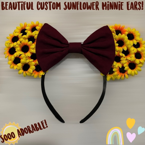🌻SALE! Beautiful Sunflower Minnie Mouse Ears!